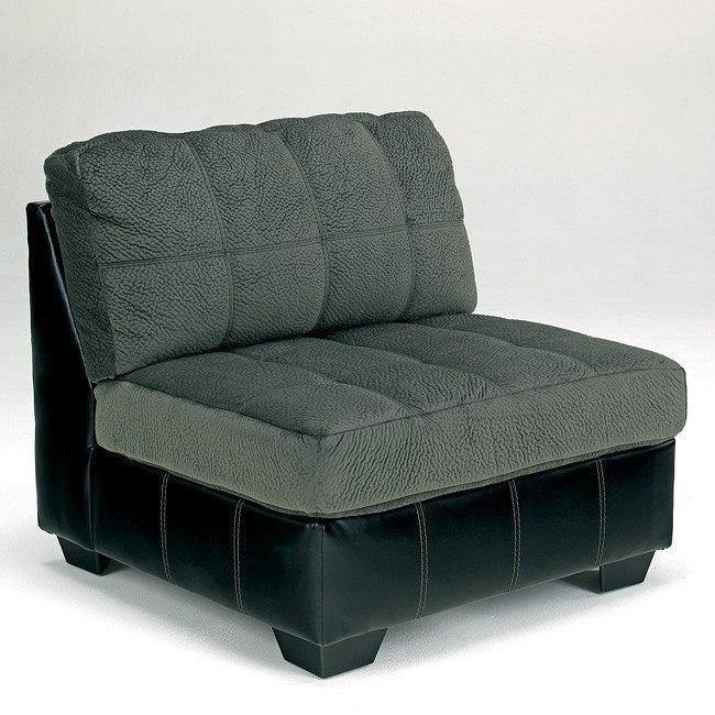 Hobokin Pewter Armless Chair