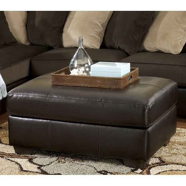 Gemini - Chocolate Oversized Accent Ottoman