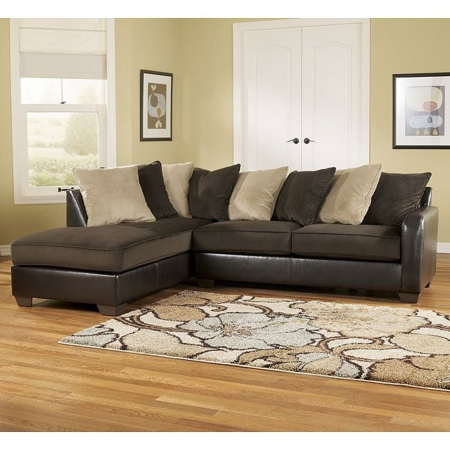 Gemini - Chocolate Left Corner Chaise Sectional