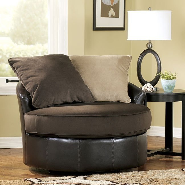 Gemini - Chocolate Swivel Chair