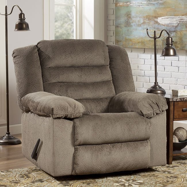 Nightfield - Taupe Recliner w/ Heat and Massage