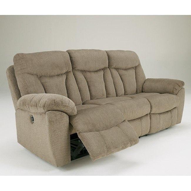 Grimsby Mushroom Reclining Sofa w/ Power