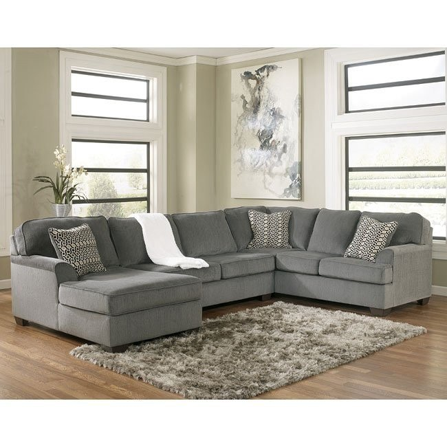 Loric Smoke Sectional w/ Left Chaise