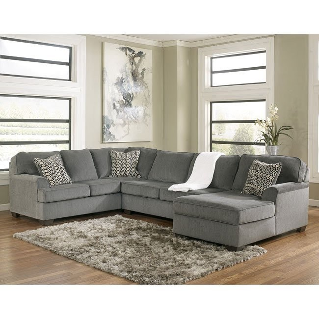 Loric Smoke Sectional w/ Right Chaise