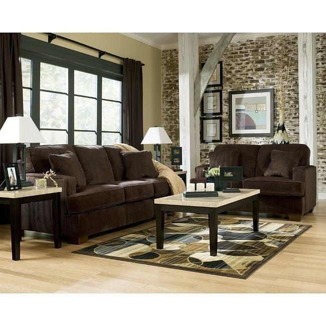 Atmore - Chocolate Living Room Set