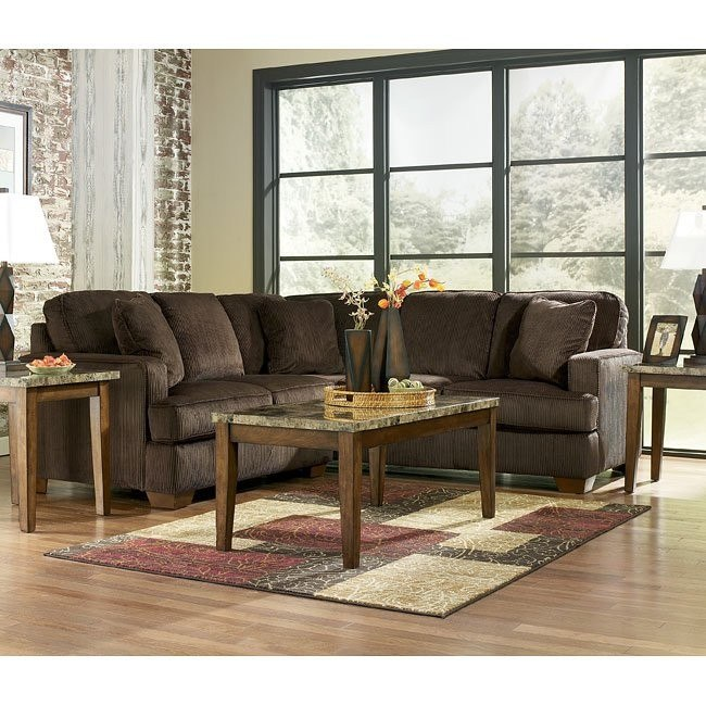 Atmore - Chocolate Corner Sectional Set