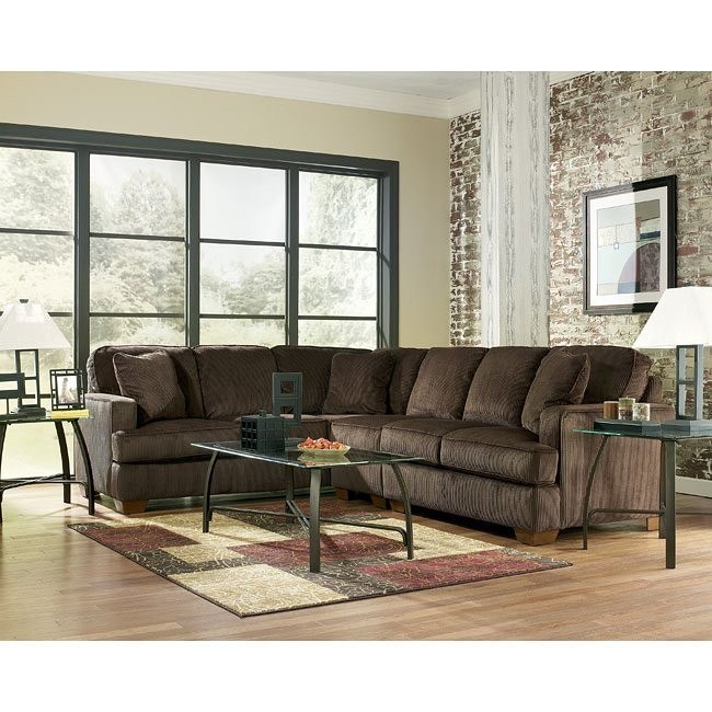Atmore - Chocolate Left Sofa Sectional