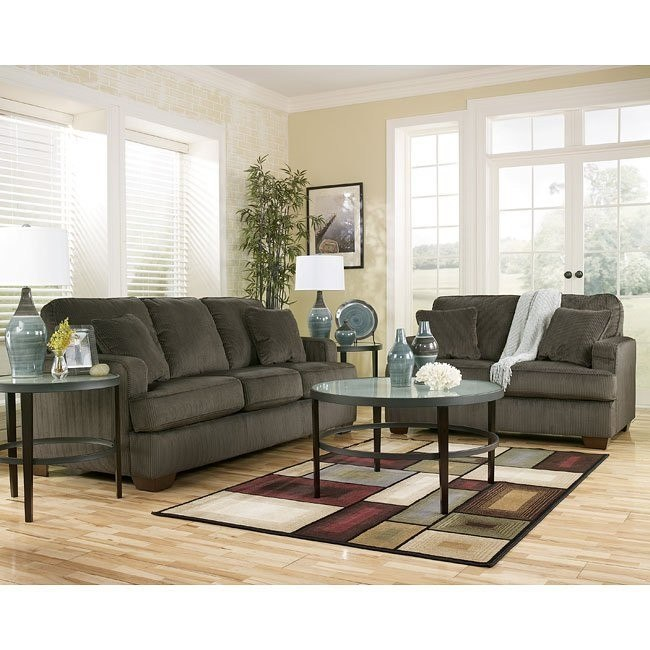 Atmore - Pewter Living Room Set