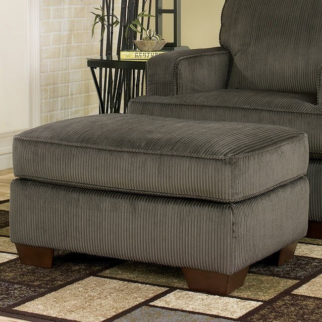Atmore - Pewter Ottoman
