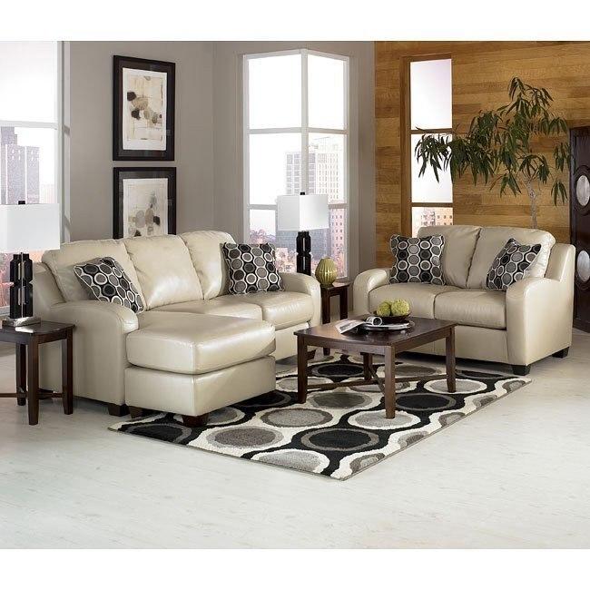 Devin DuraBlend - Sandstone Living Room Set