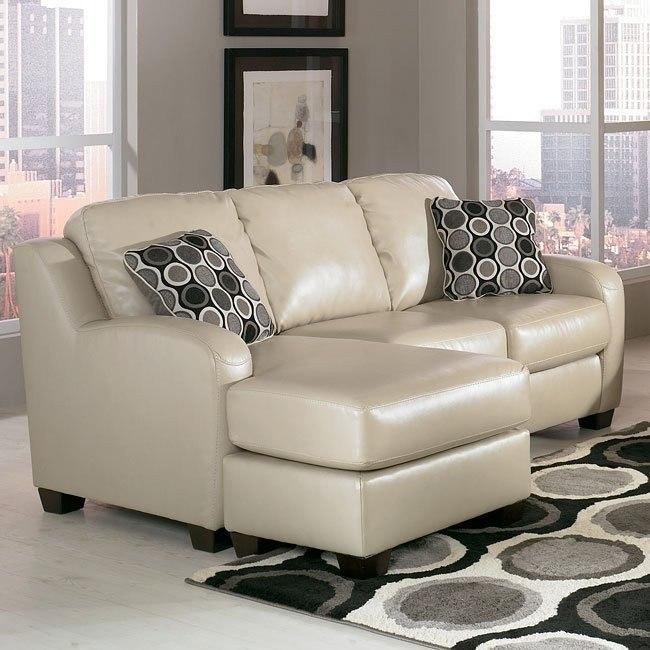 Devin DuraBlend - Sandstone Sofa Chaise Queen Sleeper