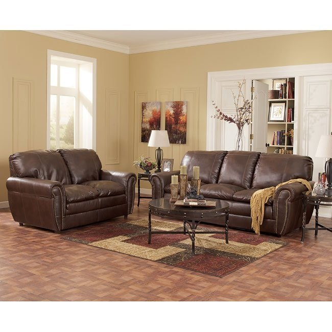 Renant DuraBlend Espresso Living Room Set
