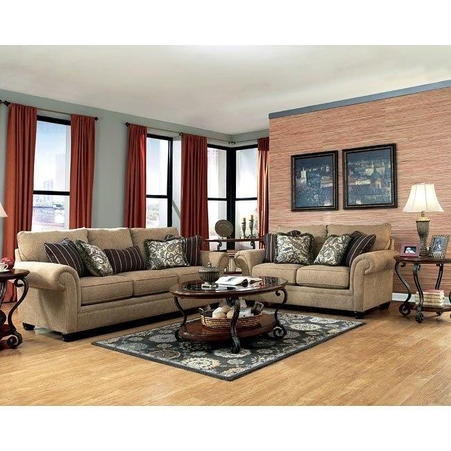 Davora Caramel Living Room Set