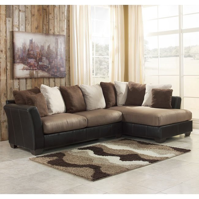 Masoli - Mocha Sectional w/ Right Facing Chaise