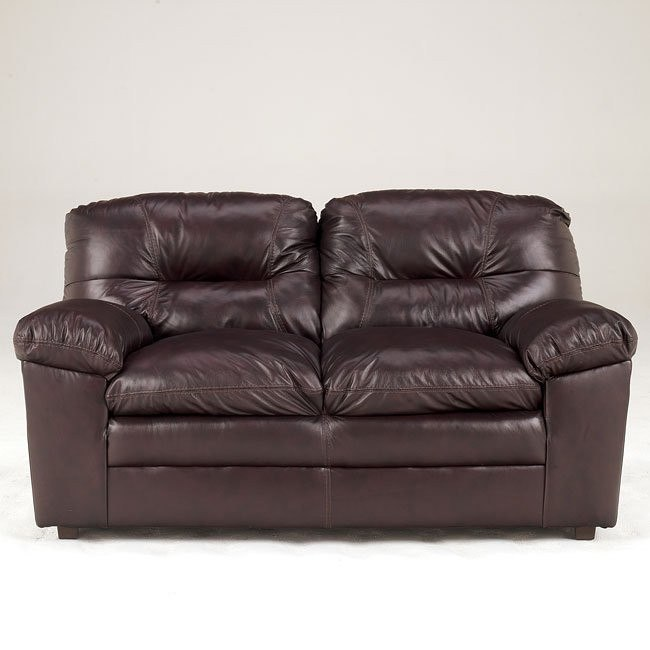 Demetrick - Burgundy Loveseat