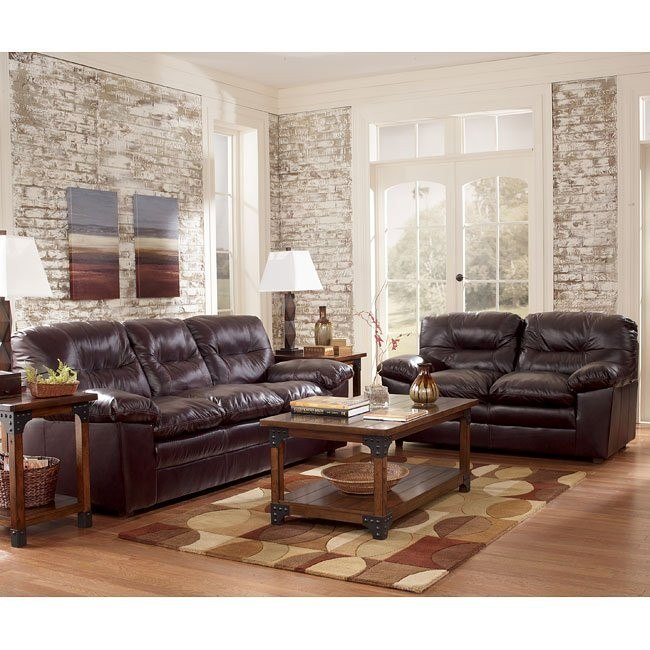 Demetrick - Burgundy Living Room Set