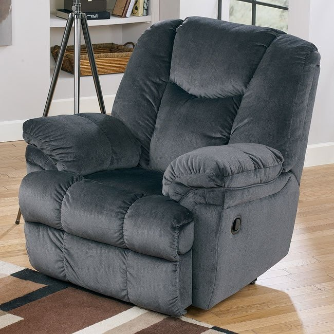 Leoti - Navy Recliner