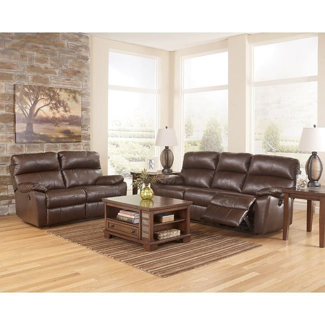 Tribulation DuraBlend Espresso Reclining Living Room Set w/ Power