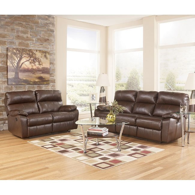Tribulation DuraBlend Espresso Reclining Living Room Set