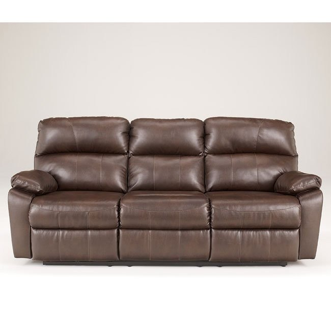 Tribulation DuraBlend Espresso Reclining Sofa