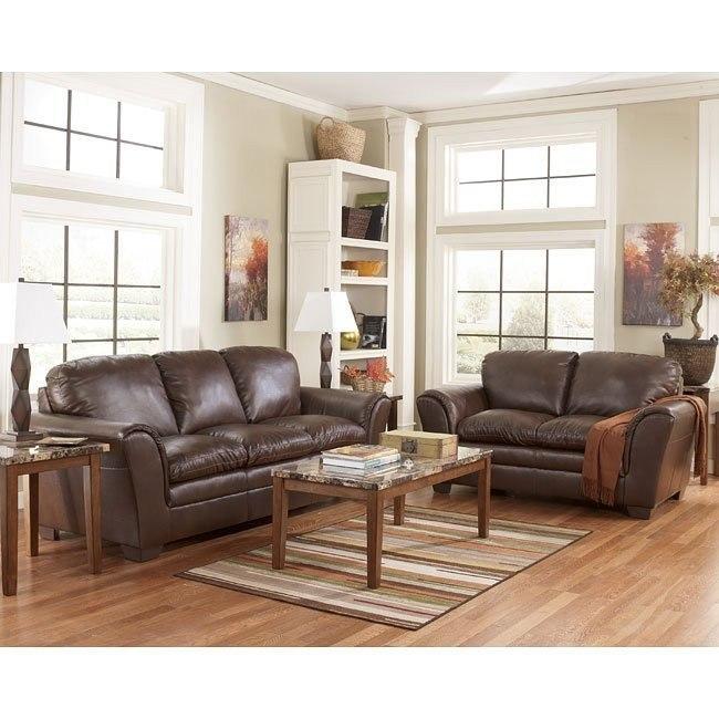 Murielle DuraBlend Espresso Living Room Set