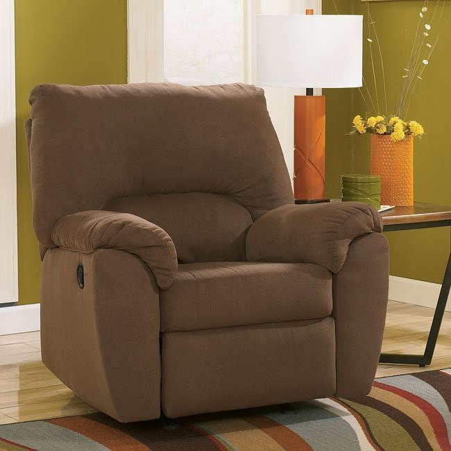 Zadee Chocolate Rocker Recliner