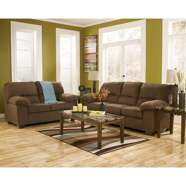 Zadee Chocolate Living Room Set