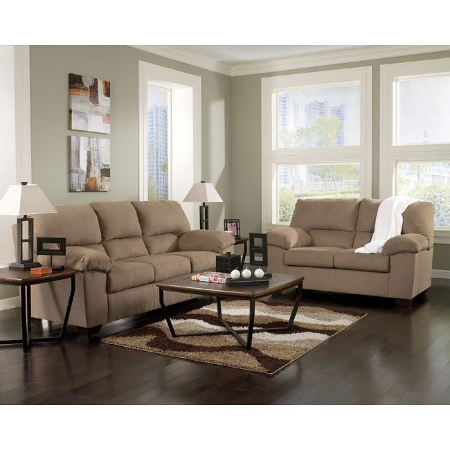 Zadee Mocha Living Room Set