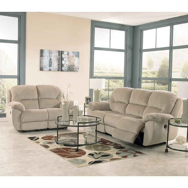 Maytime Putty Reclining Living Room Set
