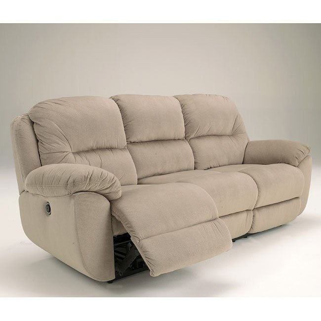 Maytime Putty Reclining Loveseat