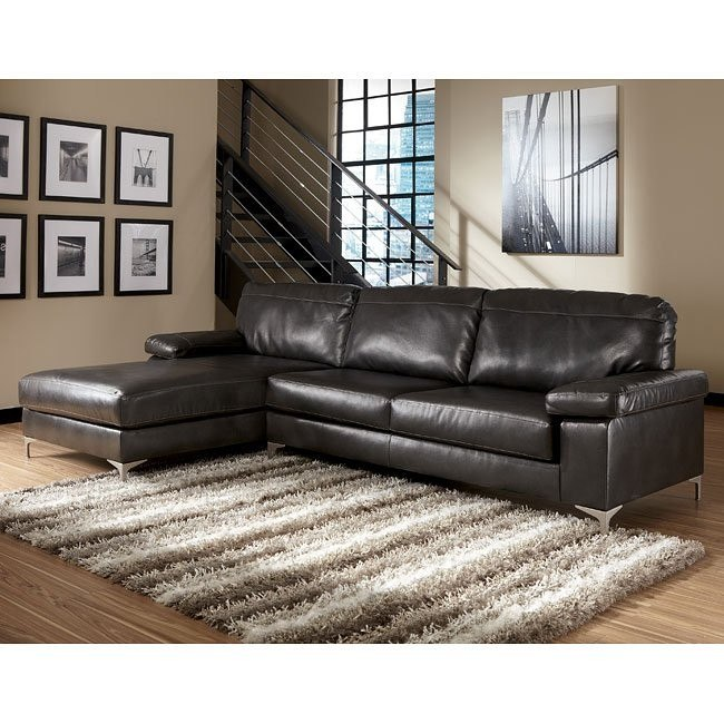 Elgan DuraBlend - Charcoal Left Chaise Sectional