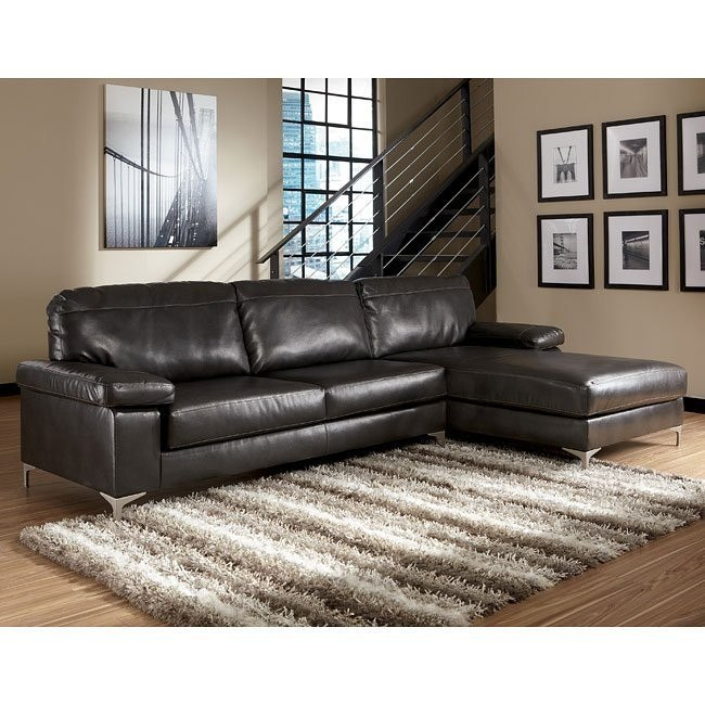 Elgan DuraBlend - Charcoal Right Chaise Sectional