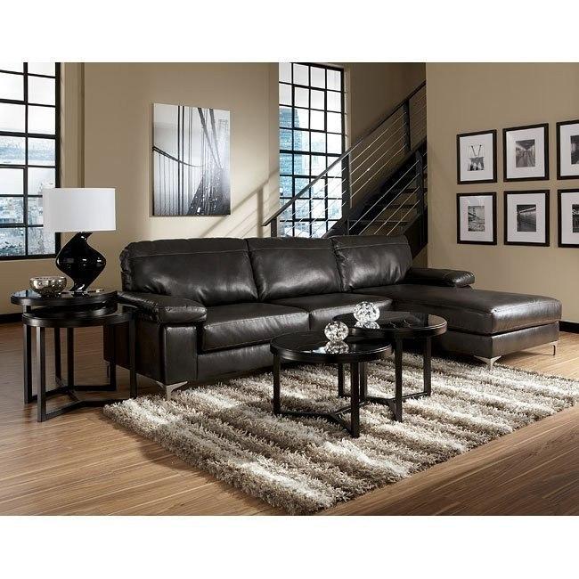 Elgan DuraBlend - Charcoal Sectional Living Room Set