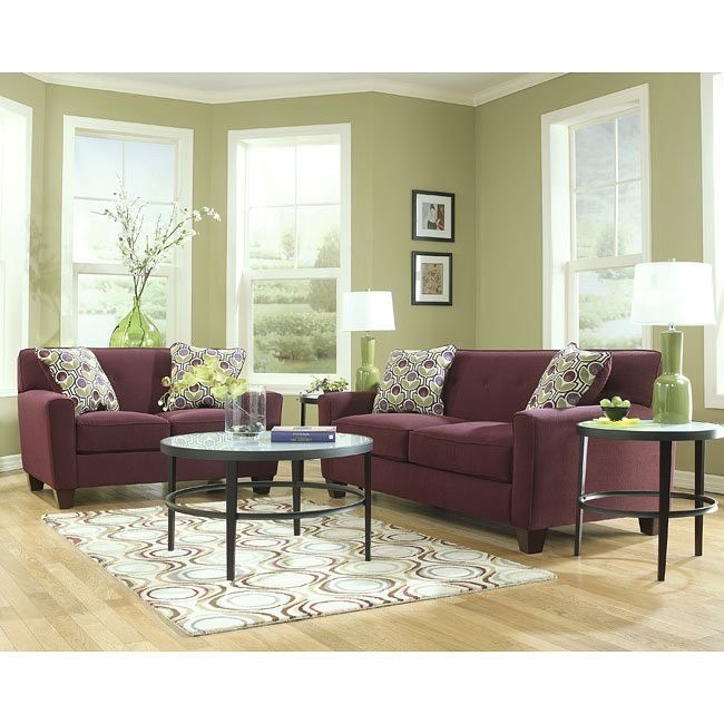 Danielle - Eggplant Living Room Set