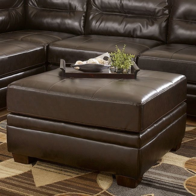 DuraBlend - Chocolate Oversized Accent Ottoman
