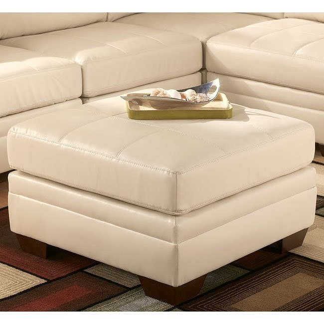 DuraBlend - Ivory Oversized Accent Ottoman
