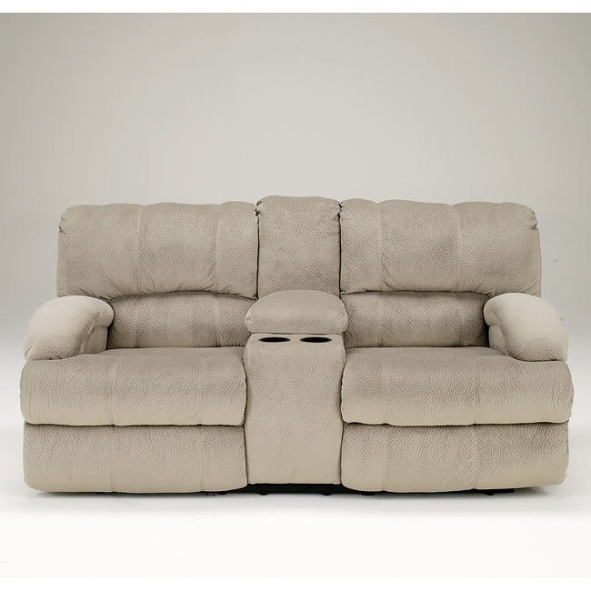 Kiska Pebble Reclining Loveseat w/ Console