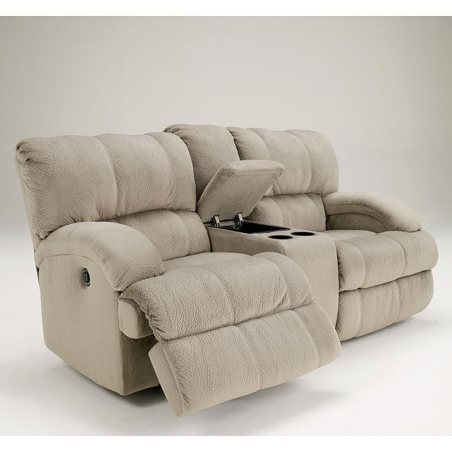 Kiska Pebble Power Reclining Loveseat w/ Console