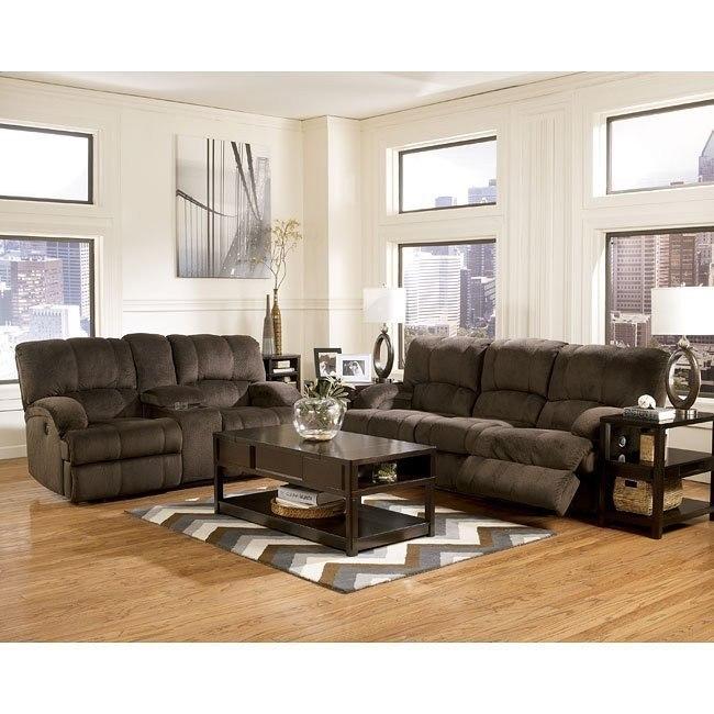 Kiska Chocolate Reclining Living Room Set