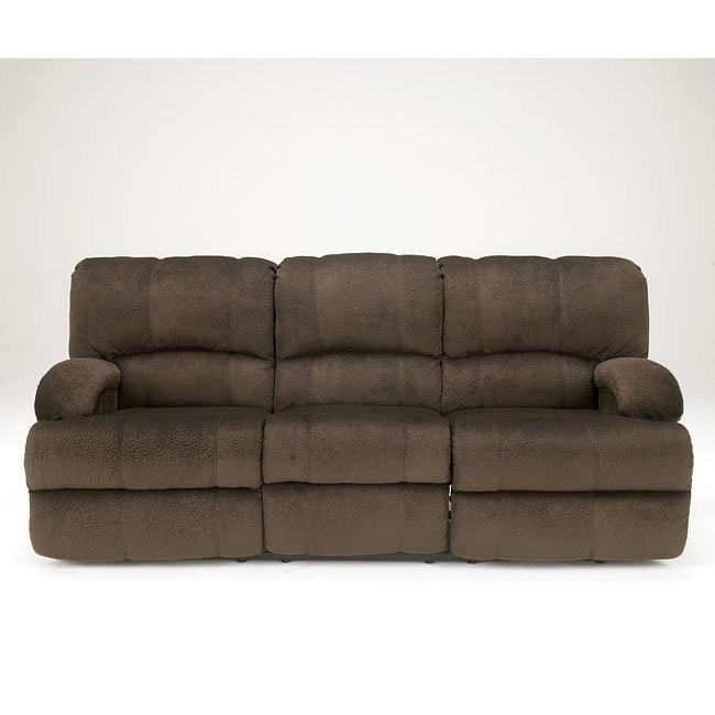Kiska Chocolate Reclining Sofa
