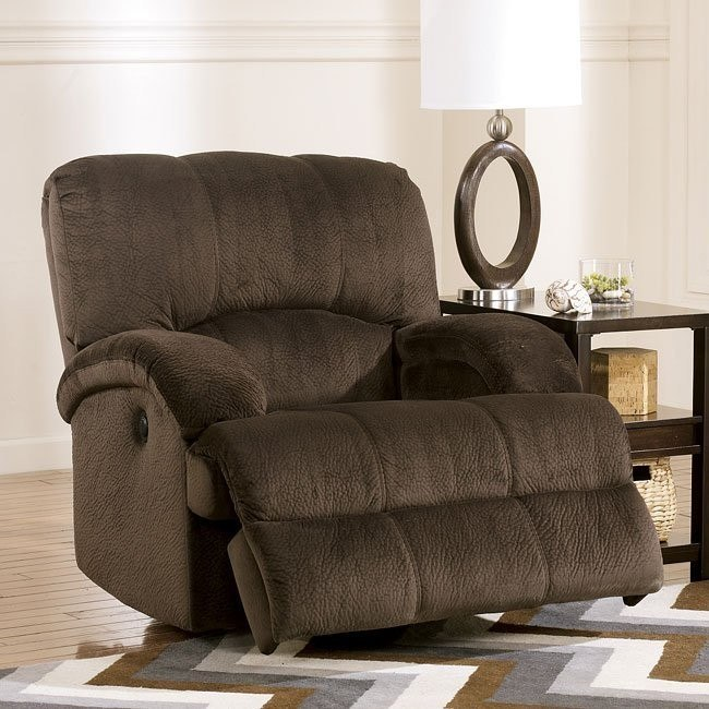 Kiska Chocolate Power Rocker Recliner