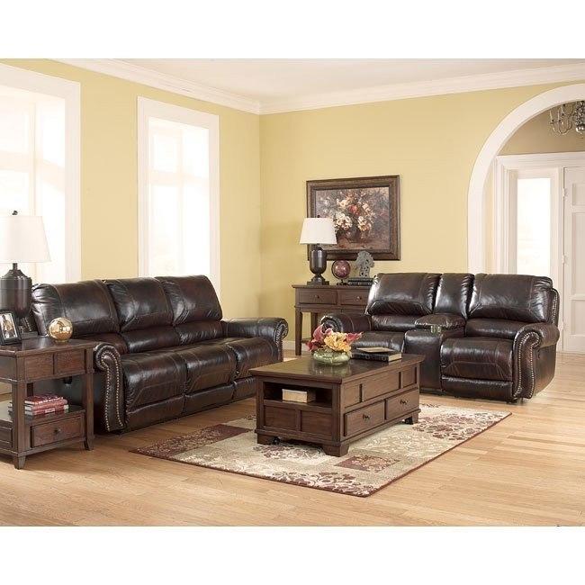Dexpen Saddle Reclining Living Room Set