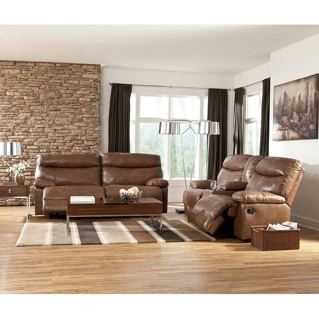 Beamard Toffee Power Reclining Living Room Set