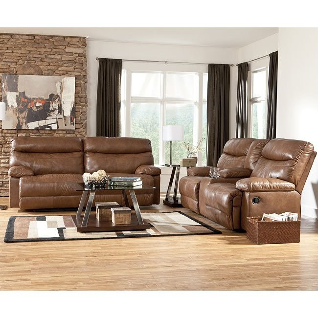 Beamard Toffee Reclining Living Room Set