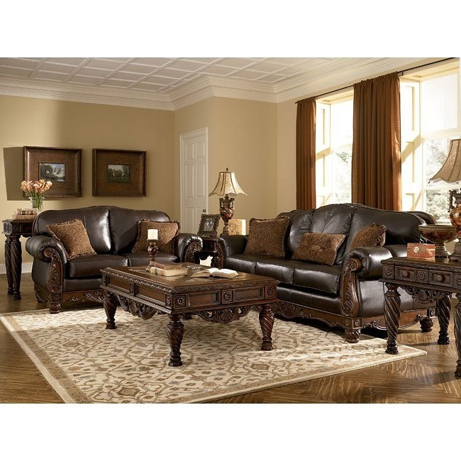 North Shore - Dark Brown Living Room Set