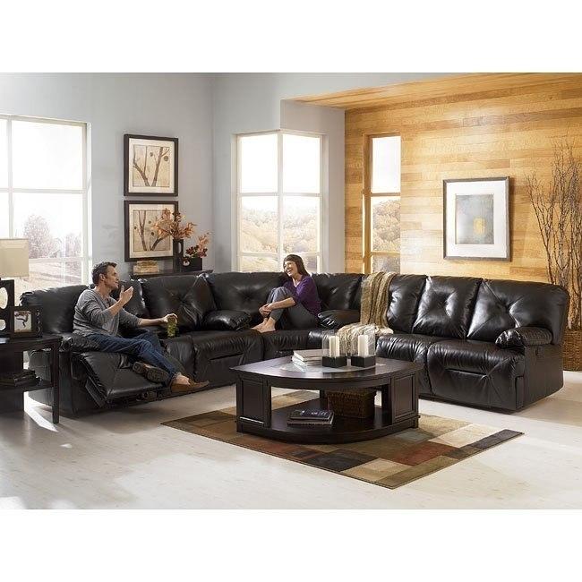 DuraBlend - Black Sectional Living Room Set