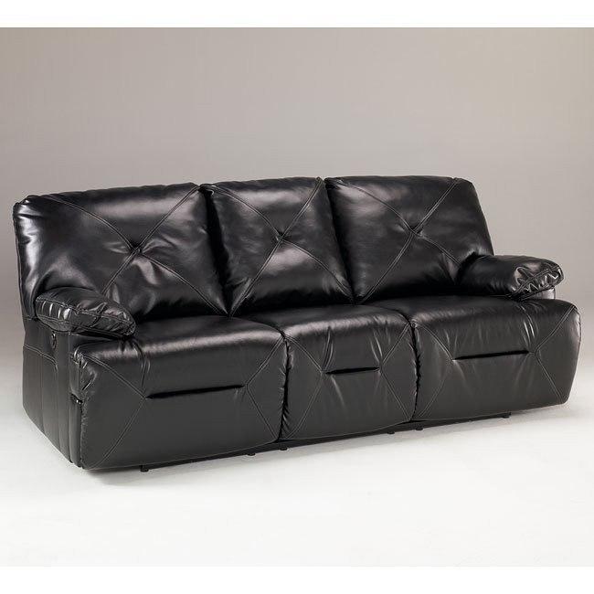 DuraBlend - Black Reclining Sofa