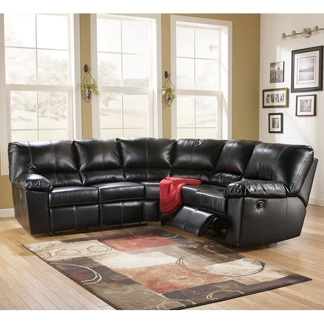 Moreno DuraBlend - Black Reclining Sectional