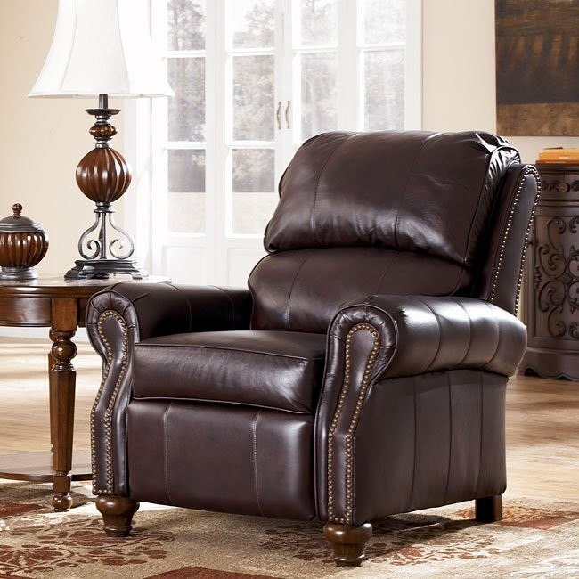 Deanville - Burgundy Low Leg Recliner