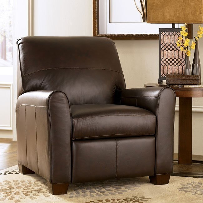 Maguire - Brown Low Leg Recliner w/ Power